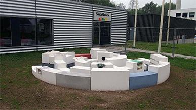 Plinte og betonkunst, Vestforbrænding Glostrup